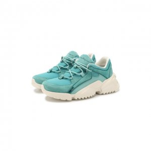 Комбинированные кроссовки Skylar Salvatore Ferragamo. Цвет: зелёный