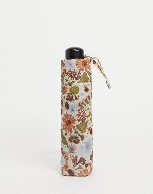 Зонт из переработанного материала с цветочным принтом -Многоцветный Monki
