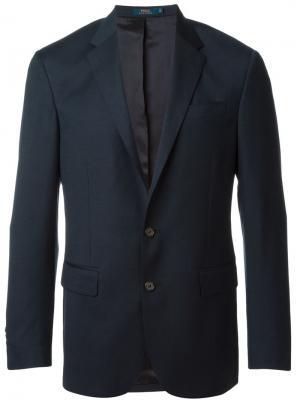Классический костюм-двойка Polo Ralph Lauren. Цвет: синий