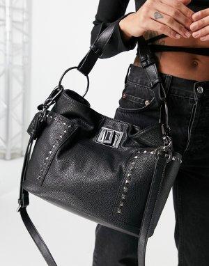 Черная большая сумка-тоут с заклепками Bsara-Черный цвет Steve Madden