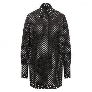 Хлопковая блузка Dolce & Gabbana. Цвет: чёрно-белый
