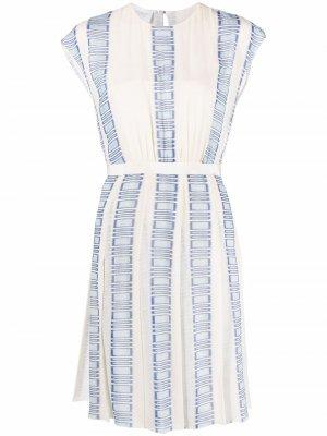 Платье с графичным принтом Giambattista Valli. Цвет: нейтральные цвета