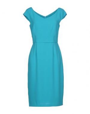 Платье до колена 1-ONE. Цвет: бирюзовый