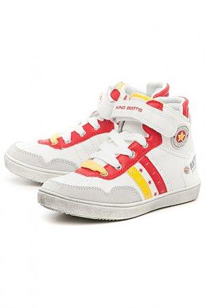 Кроссовки King Boots. Цвет: белый, красный