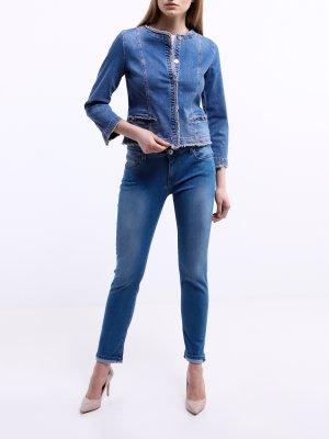 Джинсовая куртка Calia Emme Marella. Цвет: siniy