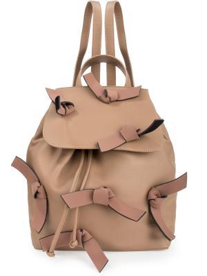 Рюкзак с декором GREYMER. Цвет: бежевый