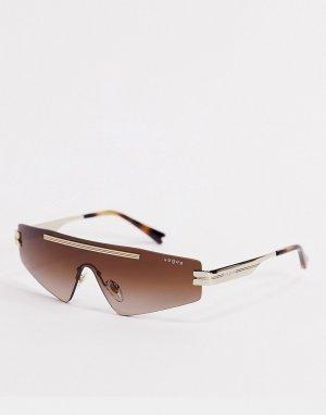 Белые солнцезащитные очки-маска Vogue x Millie Bobby Brown-Белый