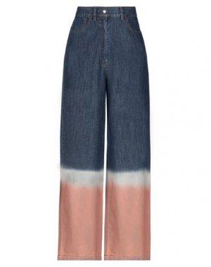 Джинсовые брюки HACHE. Цвет: синий