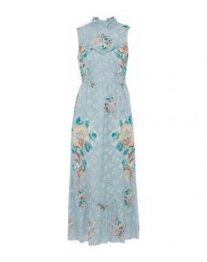 Длинное платье ANNA SUI. Цвет: небесно-голубой