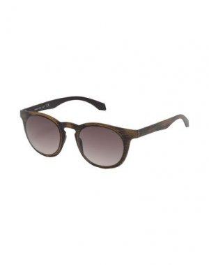 Солнечные очки ALSTECA. Цвет: коричневый