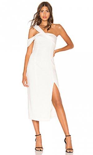 Платье с одним плечом finch Jay Godfrey. Цвет: белый