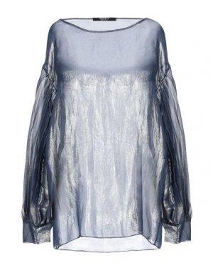 Блузка SISTE' S. Цвет: грифельно-синий