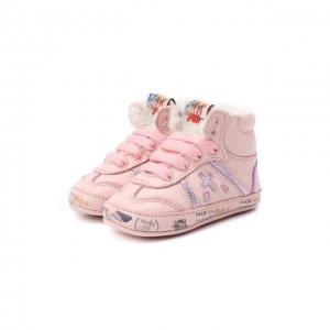 Кожаные кроссовки Premiata will be. Цвет: розовый