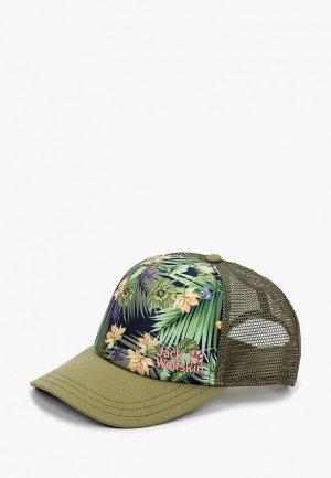 Бейсболка Jack Wolfskin PARADISE CAP WOMEN. Цвет: хаки