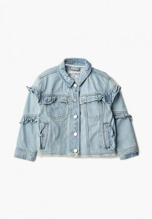 Куртка джинсовая Outfit Kids. Цвет: голубой