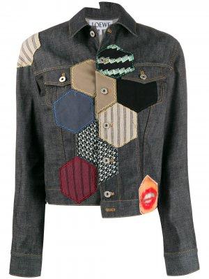 Джинсовая куртка с нашивками Loewe