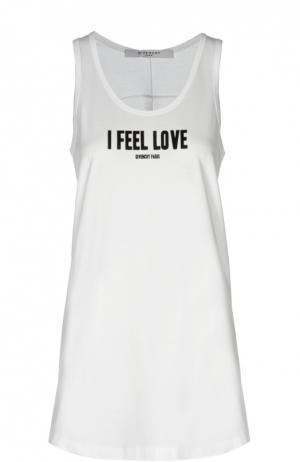 Майка джерси Givenchy. Цвет: белый
