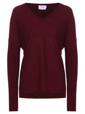 Пуловер классический SNOBBY SHEEP. Цвет: бордовый