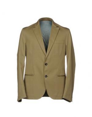 Пиджак LOW BRAND. Цвет: хаки