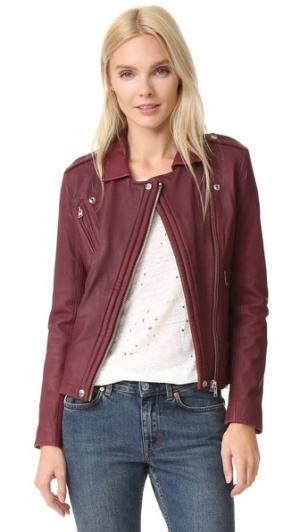 Кожаная куртка Han IRO. Цвет: винный