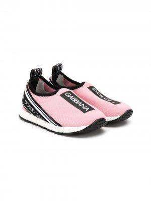 Слипоны Sorrento Dolce & Gabbana Kids. Цвет: розовый