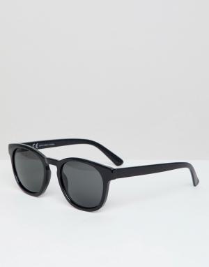 Солнцезащитные очки в квадратной оправе Weekday. Цвет: черный