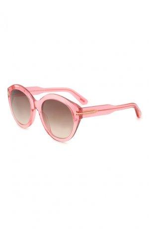 Солнцезащитные очки Tom Ford. Цвет: розовый