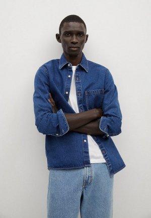 Рубашка джинсовая Mango Man - JAZZ. Цвет: синий