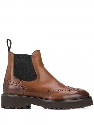 Doucals броги на массивном каблуке Doucal's. Цвет: коричневый