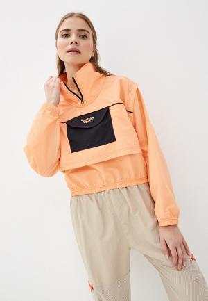 Ветровка Reebok Classic. Цвет: оранжевый