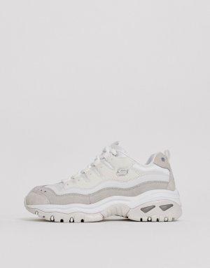 Белые кроссовки с оригинальным дизайном Energy-Белый Skechers