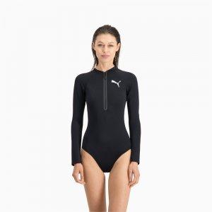 Костюм для серфинга Swim Women Long Sleeve Surf Suit PUMA. Цвет: черный
