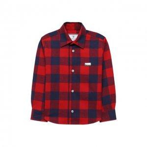Хлопковая рубашка Philipp Plein. Цвет: розовый