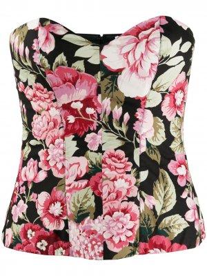 Корсет с цветочным принтом P.A.R.O.S.H.. Цвет: розовый