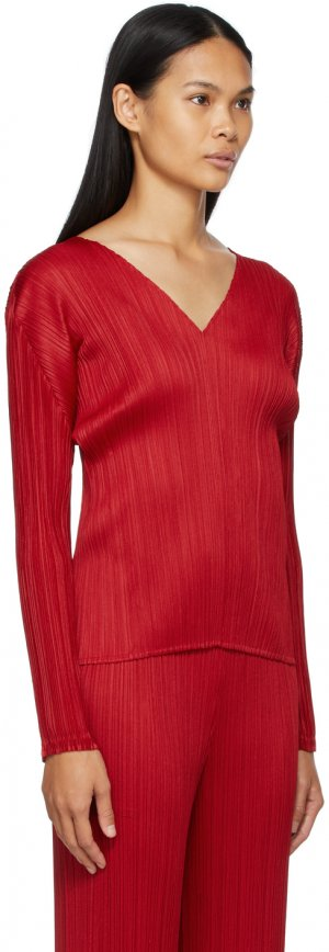 Red Echo Blouse Pleats Please Issey Miyake. Цвет: 24 red