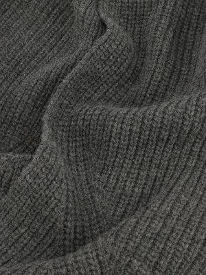 Шарф из шерсти и акрила Finisterre. Цвет: seryy