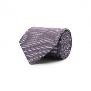Шелковый галстук Brioni. Цвет: фиолетовый