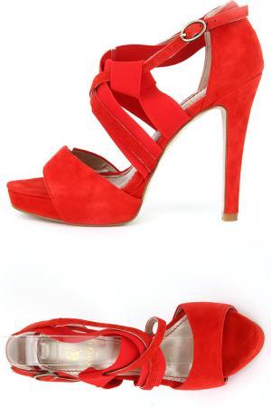 Туфли CVCOVER. Цвет: красный