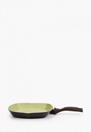 Сковорода Taller -гриль, АВОКАДО, 28х28 см. Цвет: зеленый