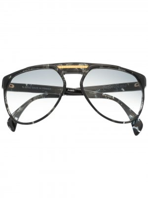 Солнцезащитные очки 1980-х годов Yves Saint Laurent Pre-Owned. Цвет: черный