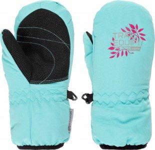 Варежки для девочек , размер 4 Outventure. Цвет: голубой