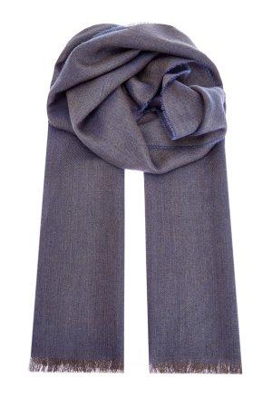Кашемировый шарф из пряжи двух оттенков BERTOLO CASHMERE. Цвет: серый
