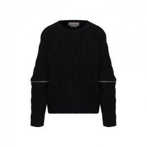Шерстяной пуловер Alexander McQueen. Цвет: синий