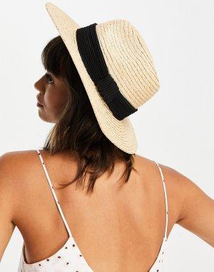 Соломенная шляпа-федора в натуральном цвете -Светло-бежевый цвет & Other Stories