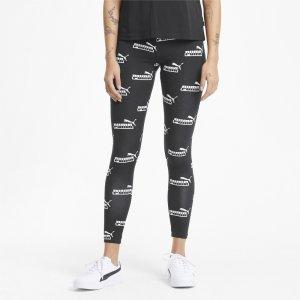 Леггинсы Amplified Printed Womens Leggings PUMA. Цвет: черный