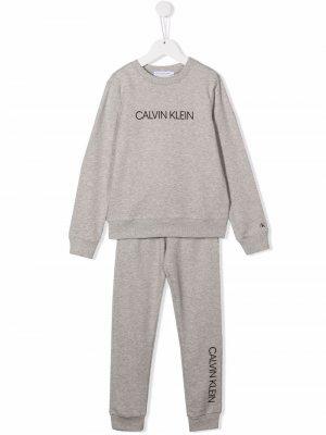 Logo-print tracksuit set Calvin Klein Kids. Цвет: серый