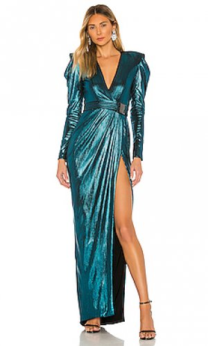Вечернее платье old boyfriends Zhivago. Цвет: сине-зеленый