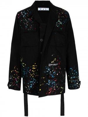 Куртка Splatter из коллаборации с Marais Off-White. Цвет: черный