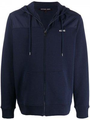 Худи на молнии с логотипом Michael Kors Collection. Цвет: синий