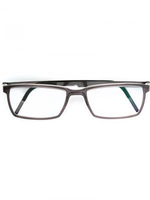 Оптические очки в прямоугольной оправе Lindberg. Цвет: серый